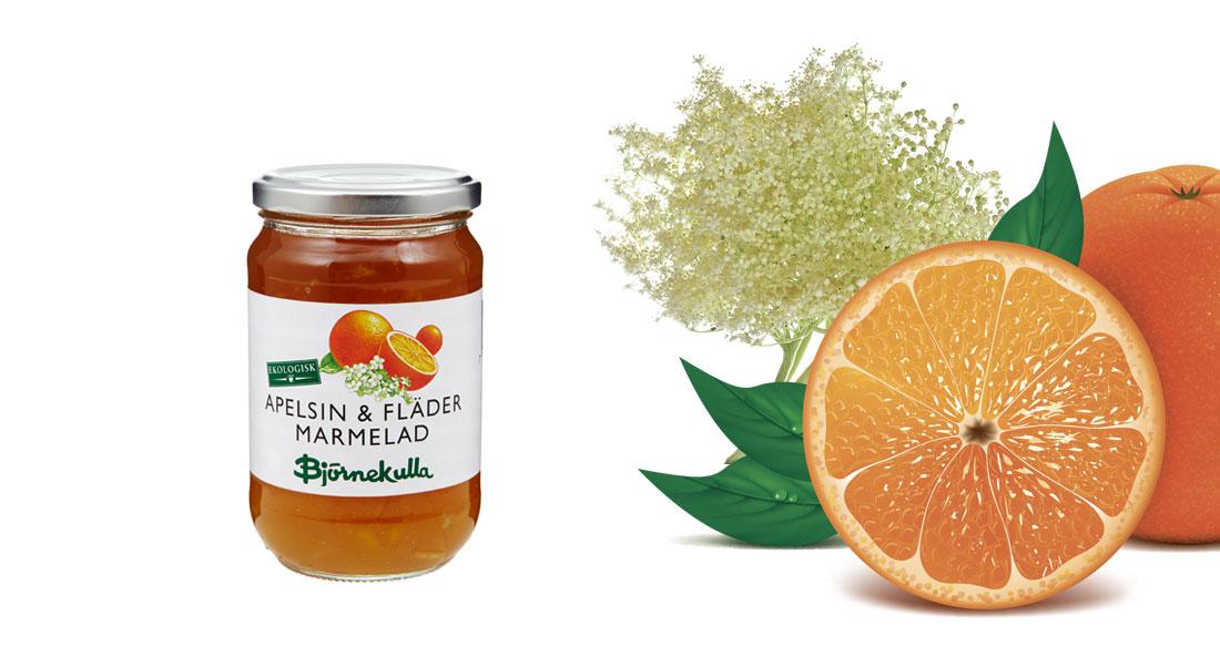 Apelsin & Flädermarmelad EKO 425 g